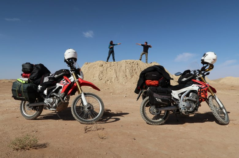 World trip by motorcycles