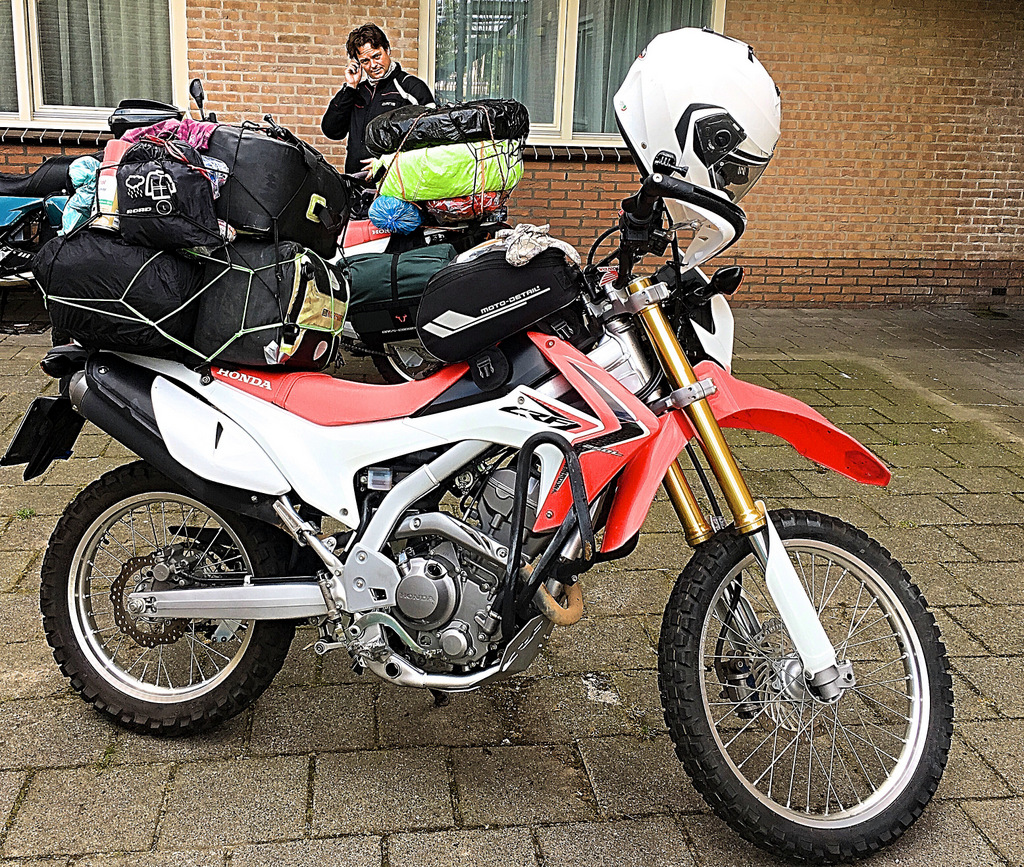 Which part of Honda CRF 250L did we change in 70 000 km in the world