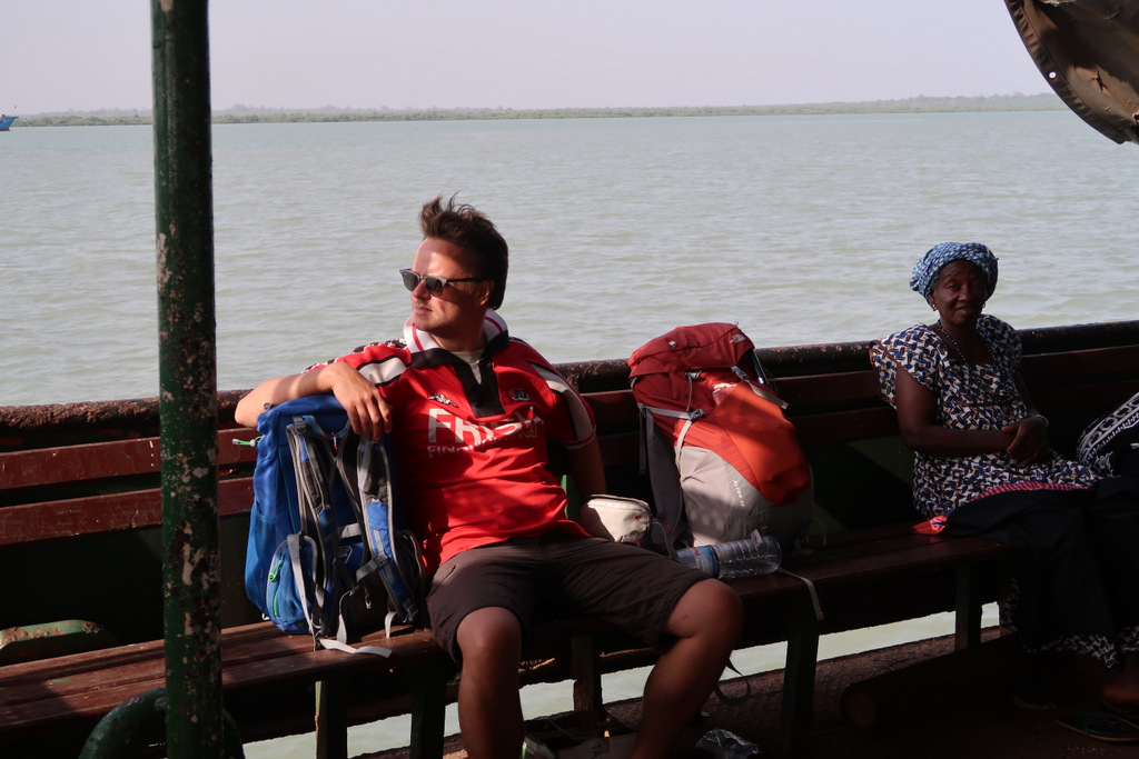 Backpacker in West Africa