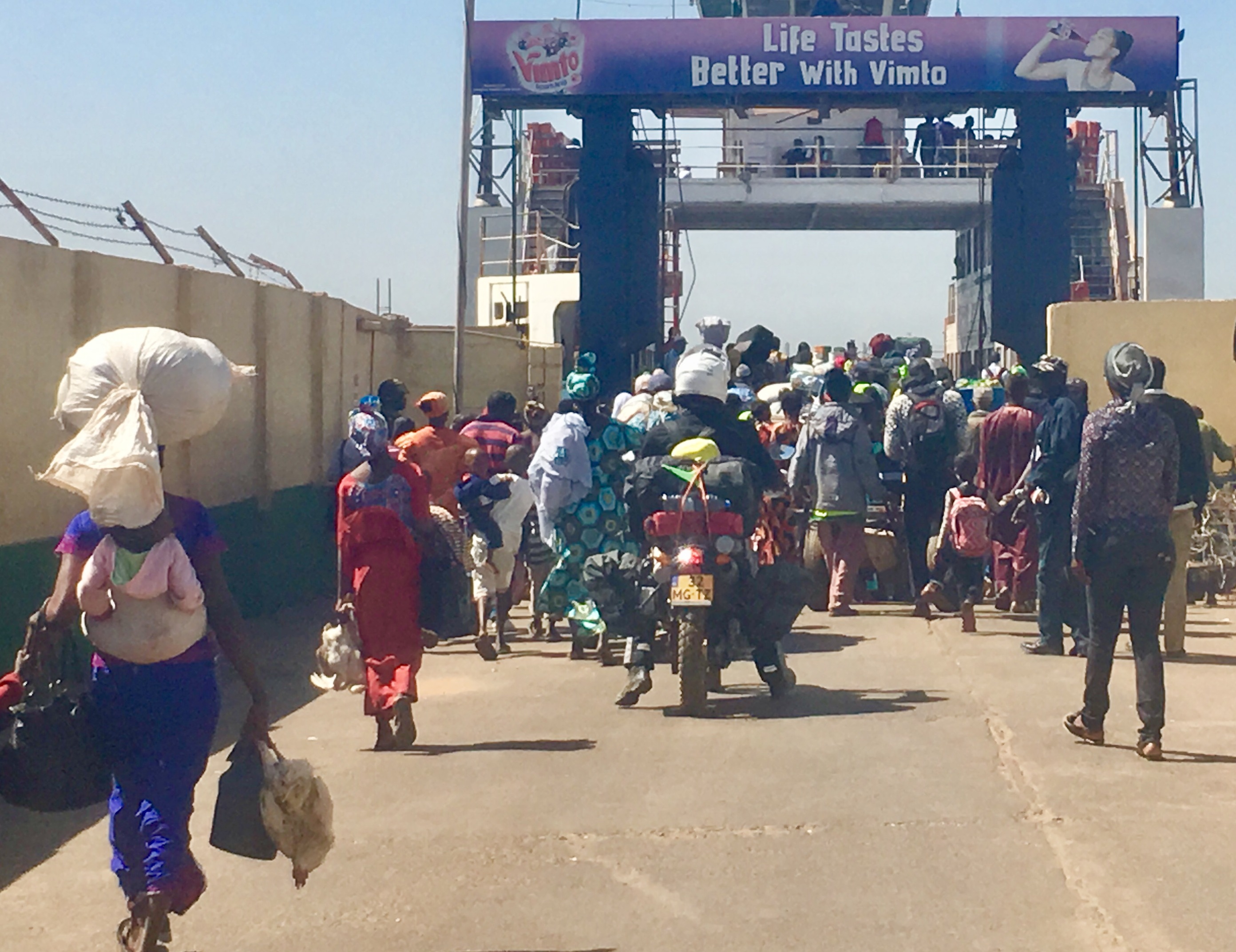 Gambia ferry crossing