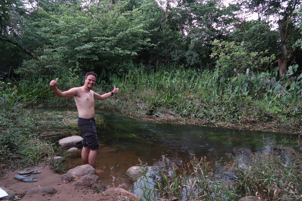 bathing river wild camping guinea conakry