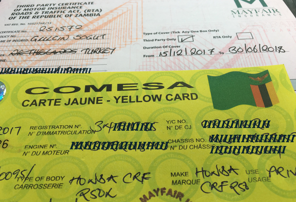 Comesa Vehicle Insurance ( Yellow Card) for East Africa