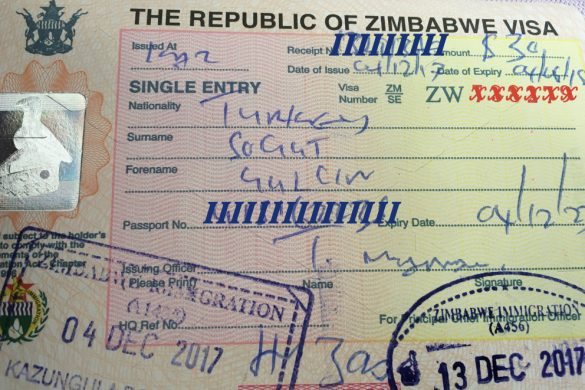 Which kind visa can get it on the border in Africa