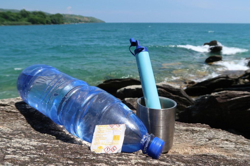 life straw or water pills save your life in Africa backpacker