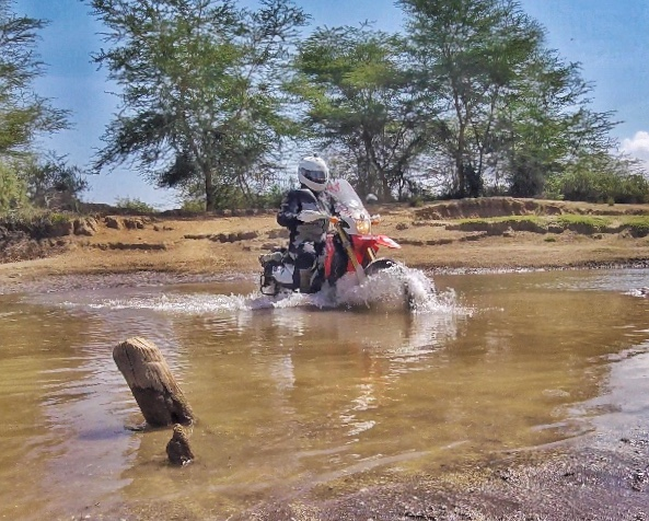 Honda CRF 250 world trip