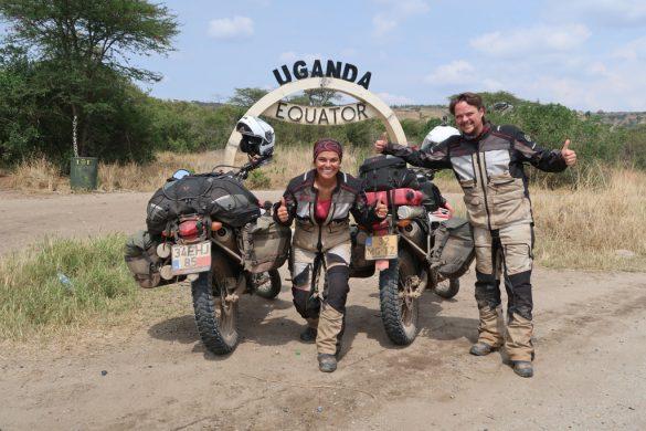 Equator line Uganda, Africa