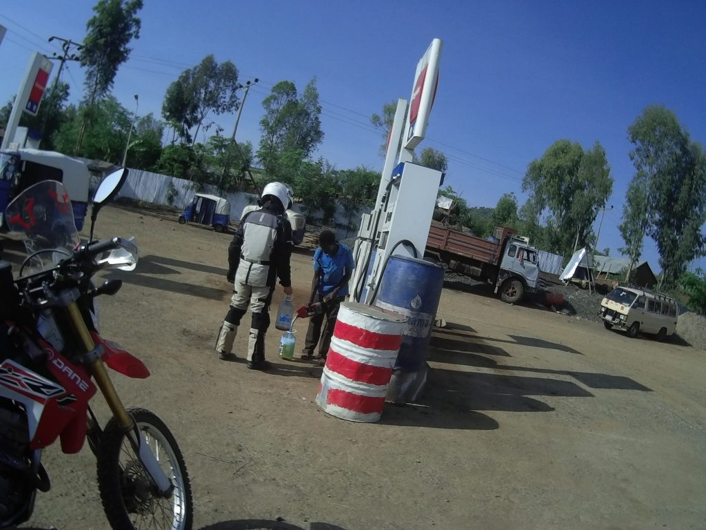 Easy to find petrol in omo valley, Ethiopia