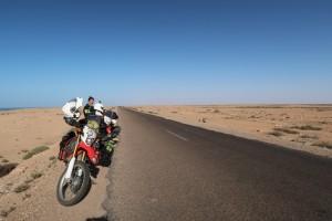 motorcycle-honda-highway-western-sahara